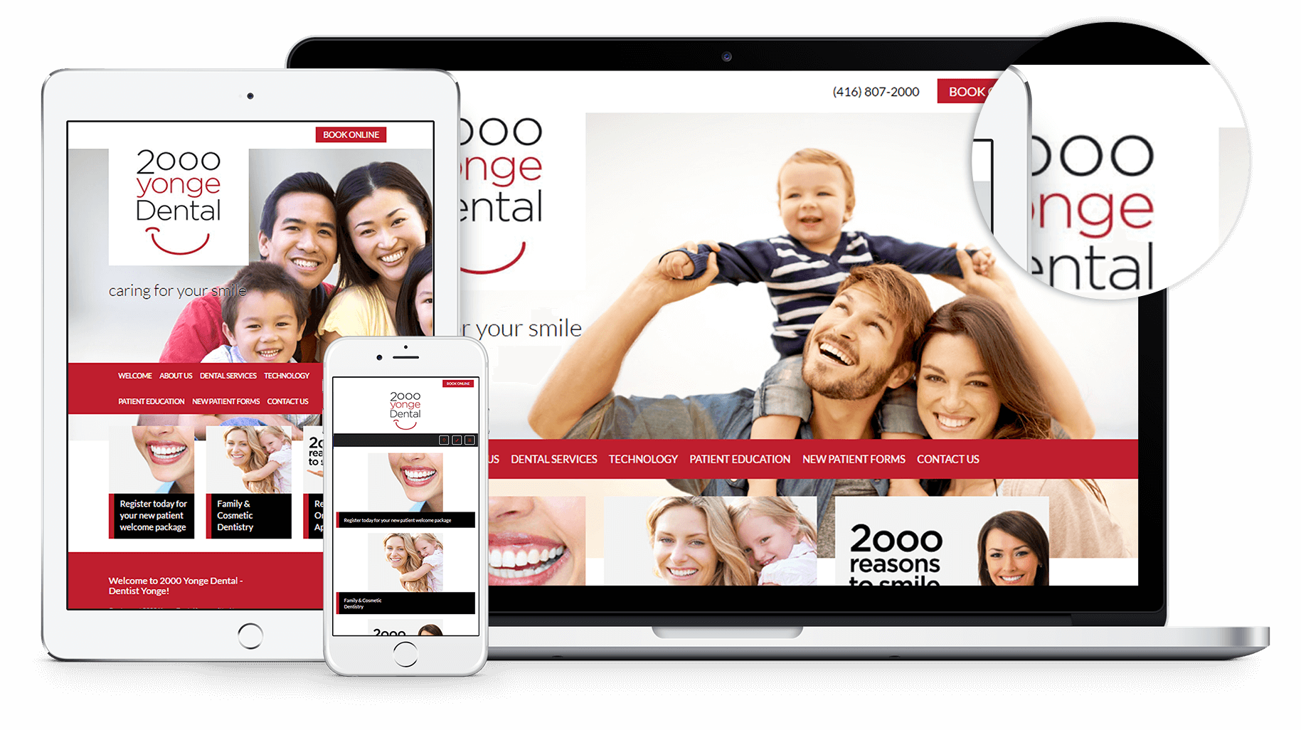 New Website for 2000 Yonge Dental!
