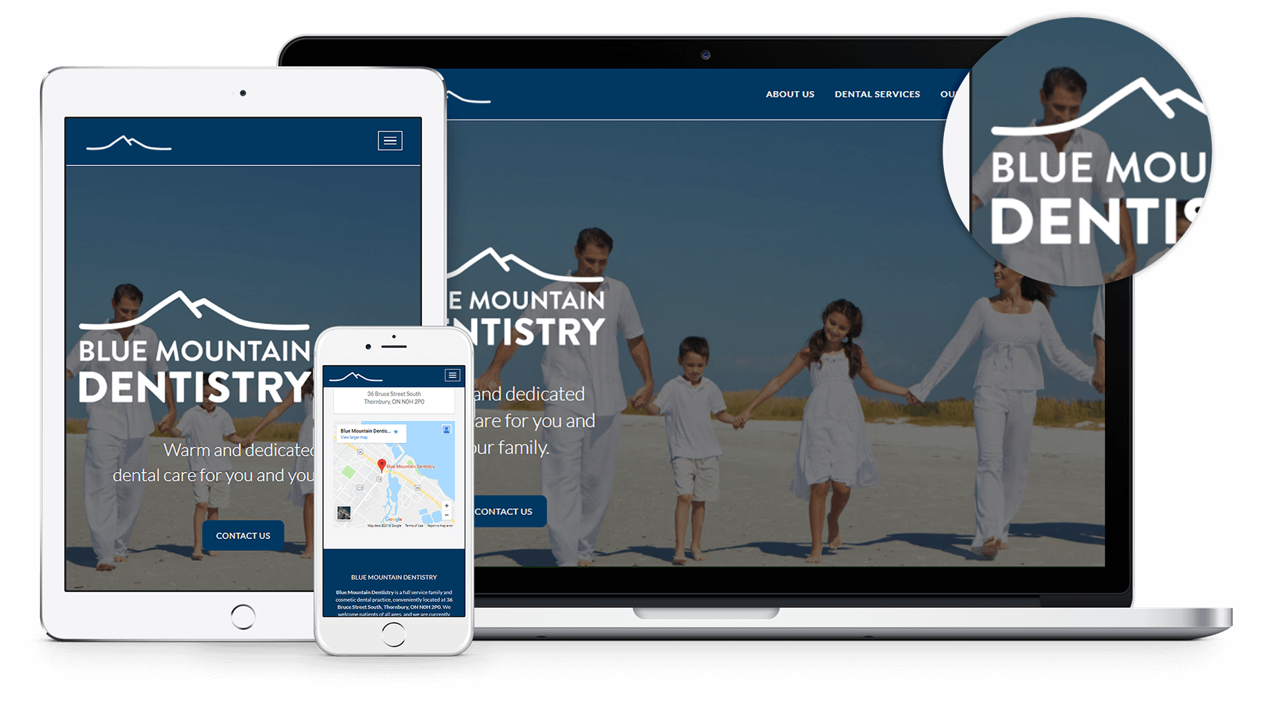 New website for Blue Mountain Dentistry