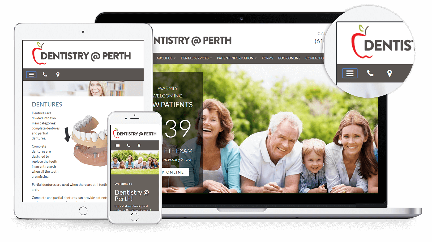 New website for Dentistry at Perth