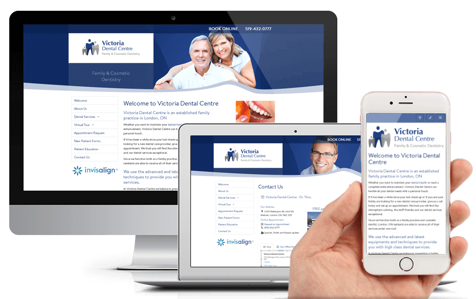 New Website for Victoria Dental Centre