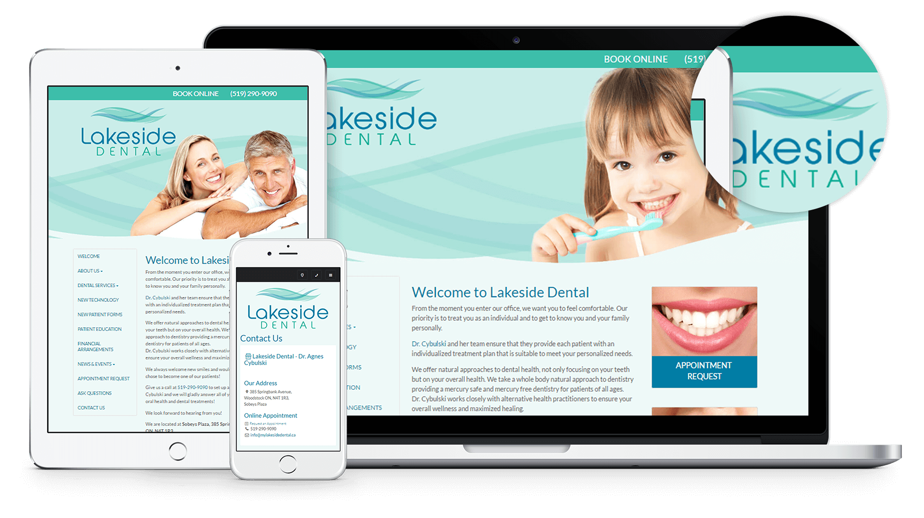 New Website for My Lakeside Dental