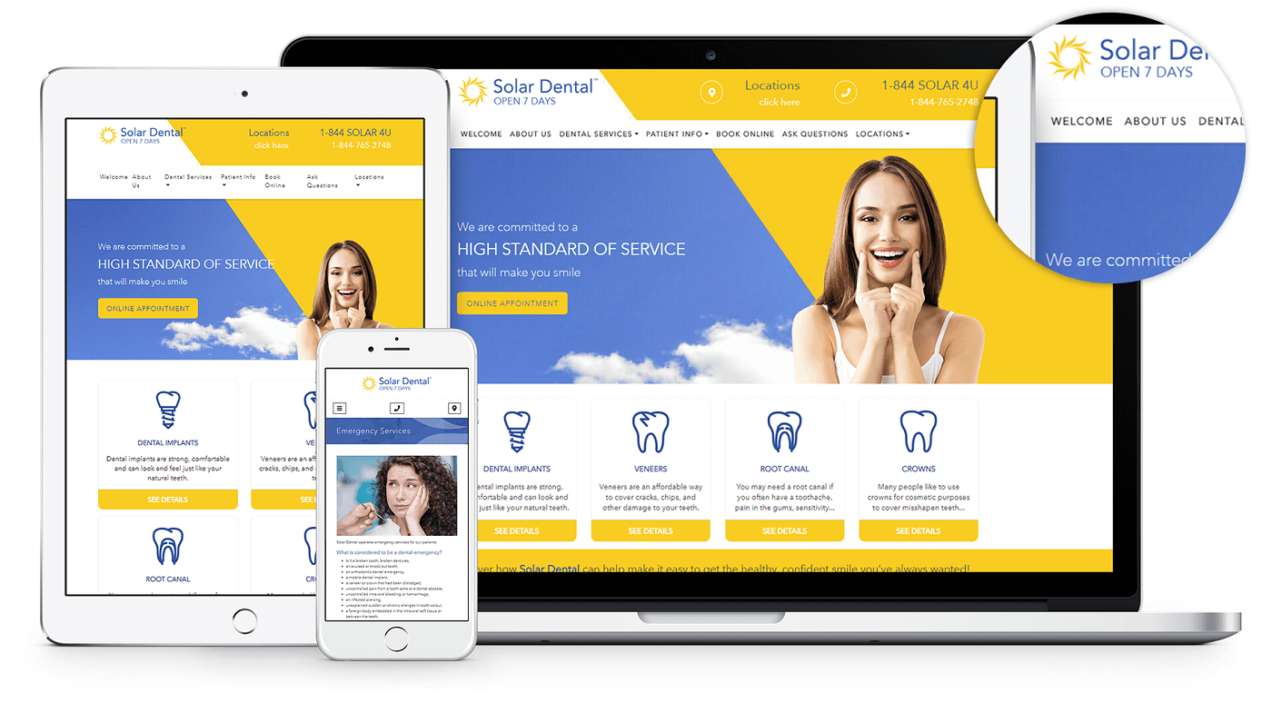 New Website for Solar Dental
