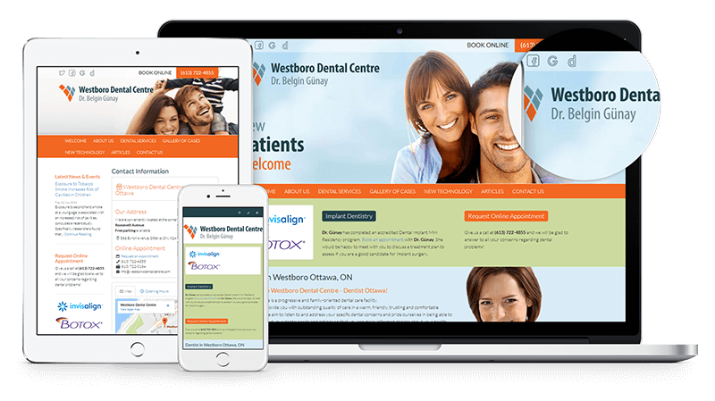 Launching a new website for Westboro Dental Centre in Ottawa!