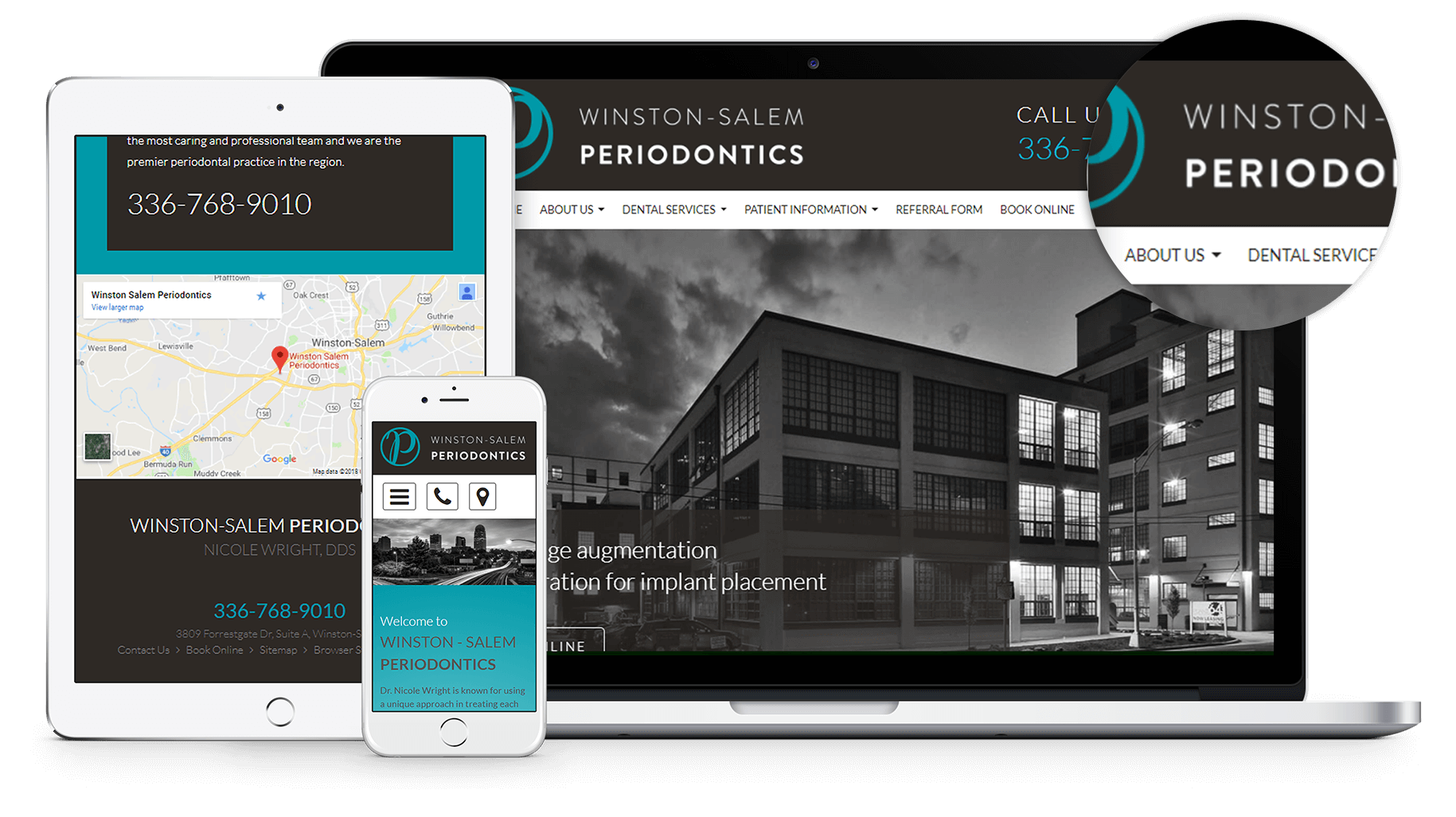 New website for Winston-Salem Periodontics