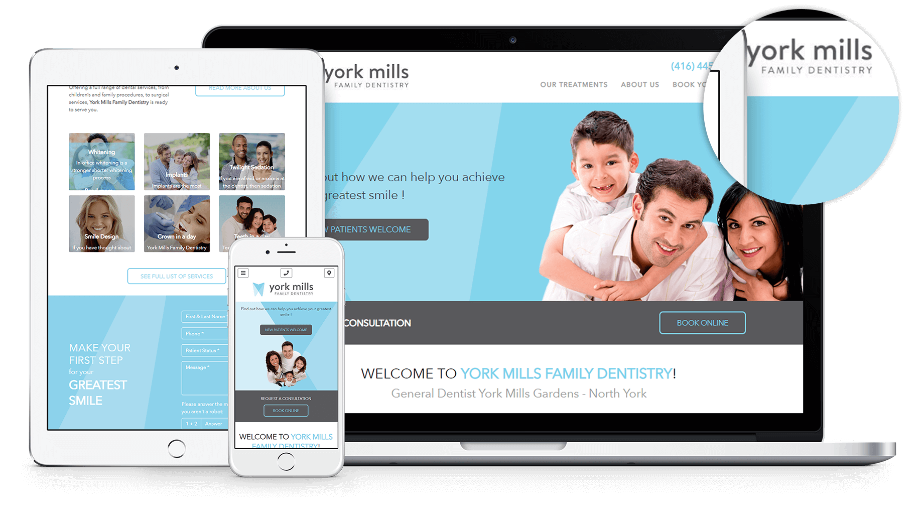 New Website for York Mills Family Dentistry in North York, Ontario